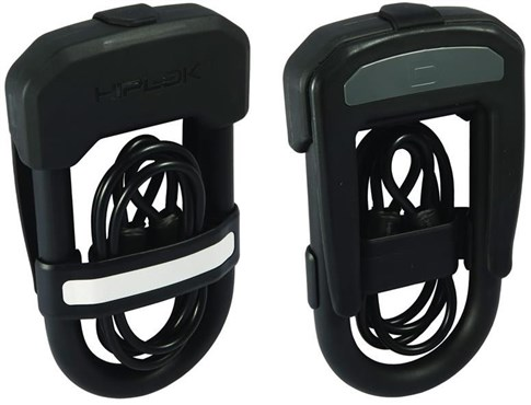HipLok DC D Lock Hardened Steel + 5mm x 0.9M Cable + Cable Holder