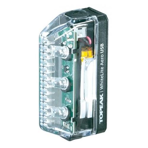 Topeak Whitelite Aero USB Rechargeable 3 LED Front Light