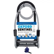Oxford Sentinel U Lock and Cable Duo - Silver Sold Secure Rating
