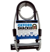 Product image for Oxford Shackle 12 U-Lock Duo With Cable