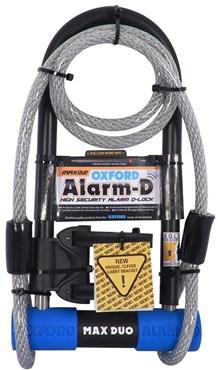 Oxford Alarm-D Max Alarmed D-Lock Duo Pack