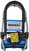 Product image for Oxford Shackle 14 D-Lock Duo Pack Gold Sold Secure