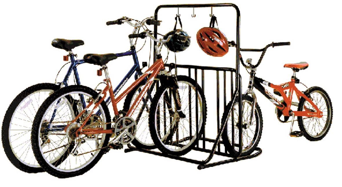 Gear Up Six-On-The-Floor 6-bike Holder With Accessory Bar   bike_storage_hanger_component