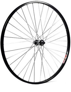 M Part 700C x 19mm Alloy Hub 36 Hole QR Axle 100mm Black Front Wheel