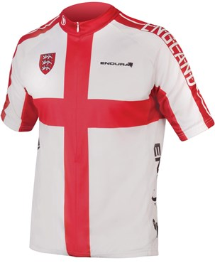 Endura CoolMax Printed England Short Sleeve Jersey  2876e1fb5