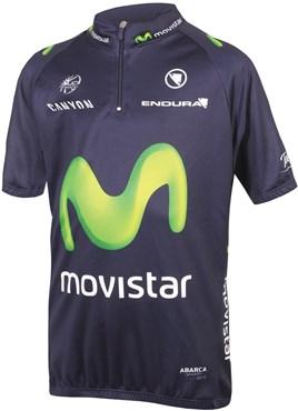 Endura Movistar Team Kids Short Sleeve Cycling Jersey AW16