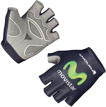 Endura Movistar Team Race Mitt Short Finger Cycling Gloves AW16