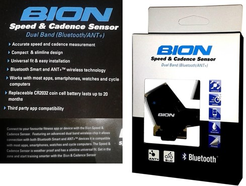 Bion CX-320 Dual Bluetooth ANT+ Speed & Cadence Sensor