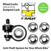 Pinhead Solid Axle Wheel/Seatpost Lock Pack
