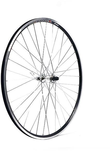 M Part Silver Hub 36 Hole Qr Axle 100 Mm Black Rim 700c Front Wheel | Hjulsæt