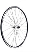 Product image for M Part Silver Hub 36 Hole Qr Axle 100 Mm Black Rim 700c  Front Wheel