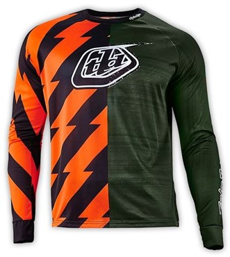 Troy Lee Designs Moto Caustic Long Sleeve MTB Cycling Jersey SS16 ... 59033cd1a
