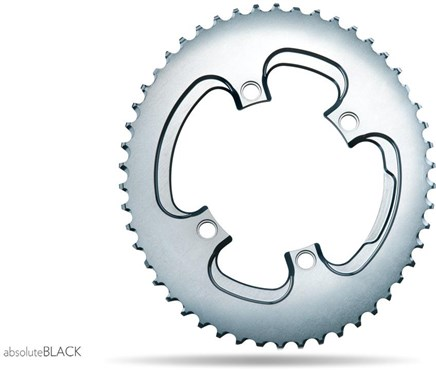 absoluteBLACK 110BCD 4 Bolt Spider Mount Aero Oval 2X Asymmetric Winter Training Outer Chainring