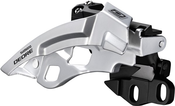 Shimano Deore M612-E Triple Front Derailleur With Side Swing & Front Pull