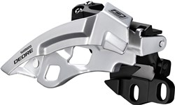 Product image for Shimano Deore M612-E Triple Front Derailleur With Side Swing & Front Pull