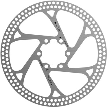 Aztec Stainless Steel Fixed Disc Rotor With Circular Cut Outs | Bremseskiver og -klodser