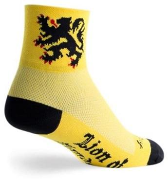 """SockGuy Classic 3"""" Lion of Flanders Socks"""