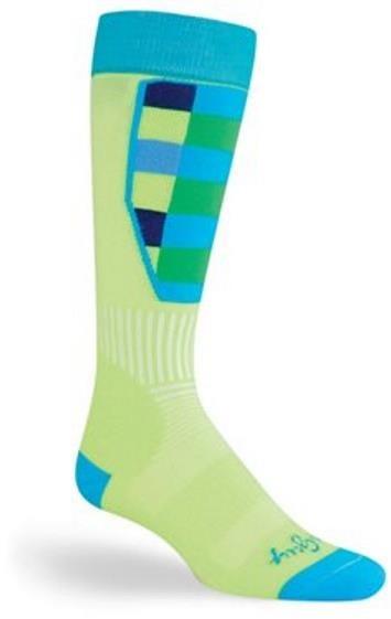 SockGuy MTN-Tech Ski Green Plaid Socks | Socks