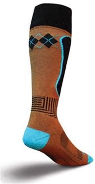 SockGuy MTN-Tech Snowboard Triple Mocha Socks