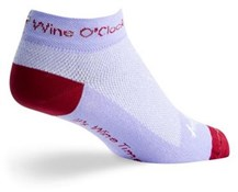 "SockGuy 1"" Wine O Clock Womens Socks"