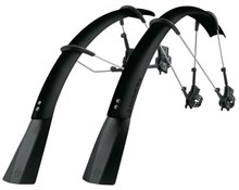 SKS Raceblade Pro XL Stealth Series Clip-on Road Bike Mudguard Set