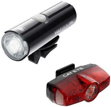 Cateye Volt 200 XC Front / Rapid Rear USB Rechargeable Light Set | Lygtesæt
