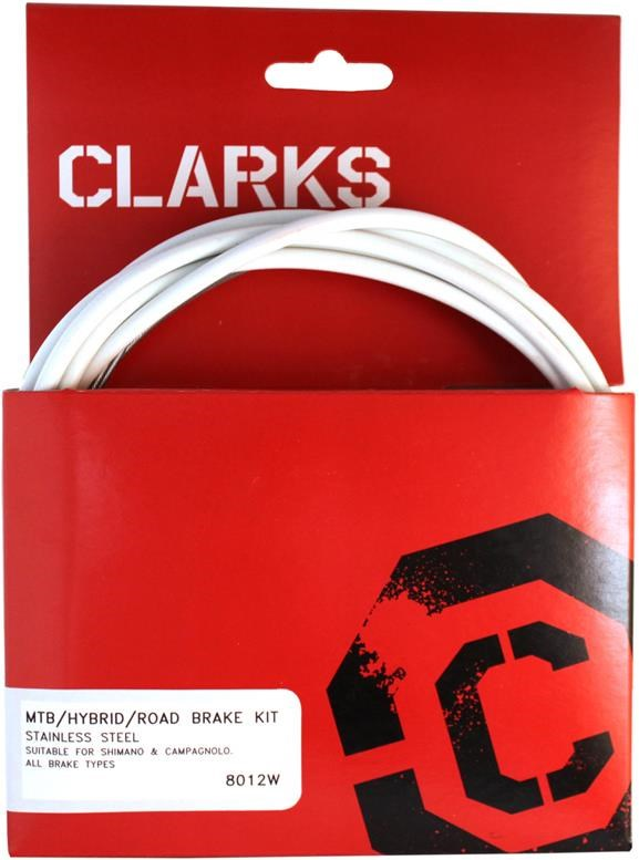 Clarks Universal S/S Front & Rear Brake Cable Kit w/P2 Outer Casing | Brake cables