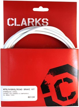 Clarks Universal S/S Front & Rear Brake Cable Kit w/P2 Outer Casing