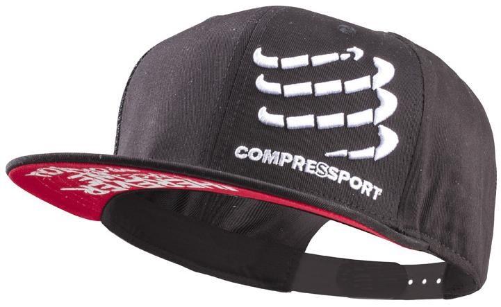 Compressport Flat Cap, black   Headwear