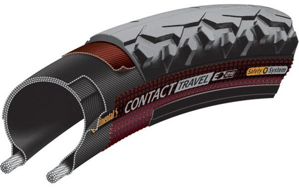 Continental Contact Travel Wire Bead Hybrid Tyre