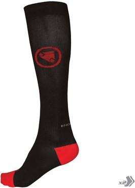 Endura Compression Cycling Socks - Twin Pack