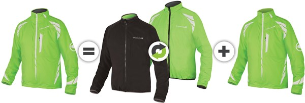 Endura Luminite 4 in 1 Cycling Jacket With New Luminite II LED