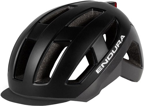 Endura Urban Luminite Urban Cycling Helmet Includes USB Rechargeable LED Light
