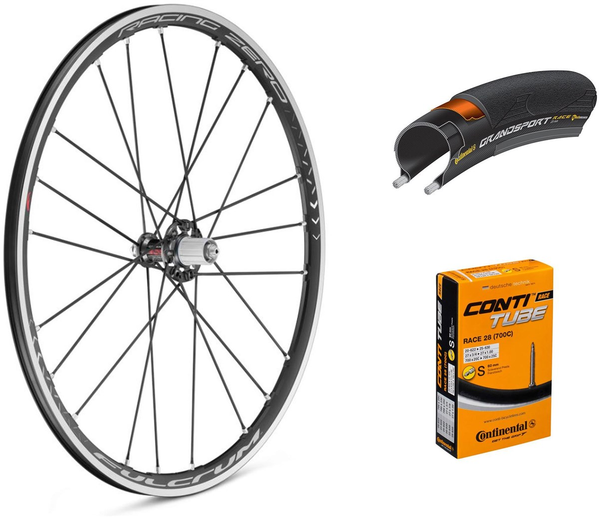 Fulcrum Racing Zero C17 700c Wheelset with Tyres and Tubes | Hjulsæt