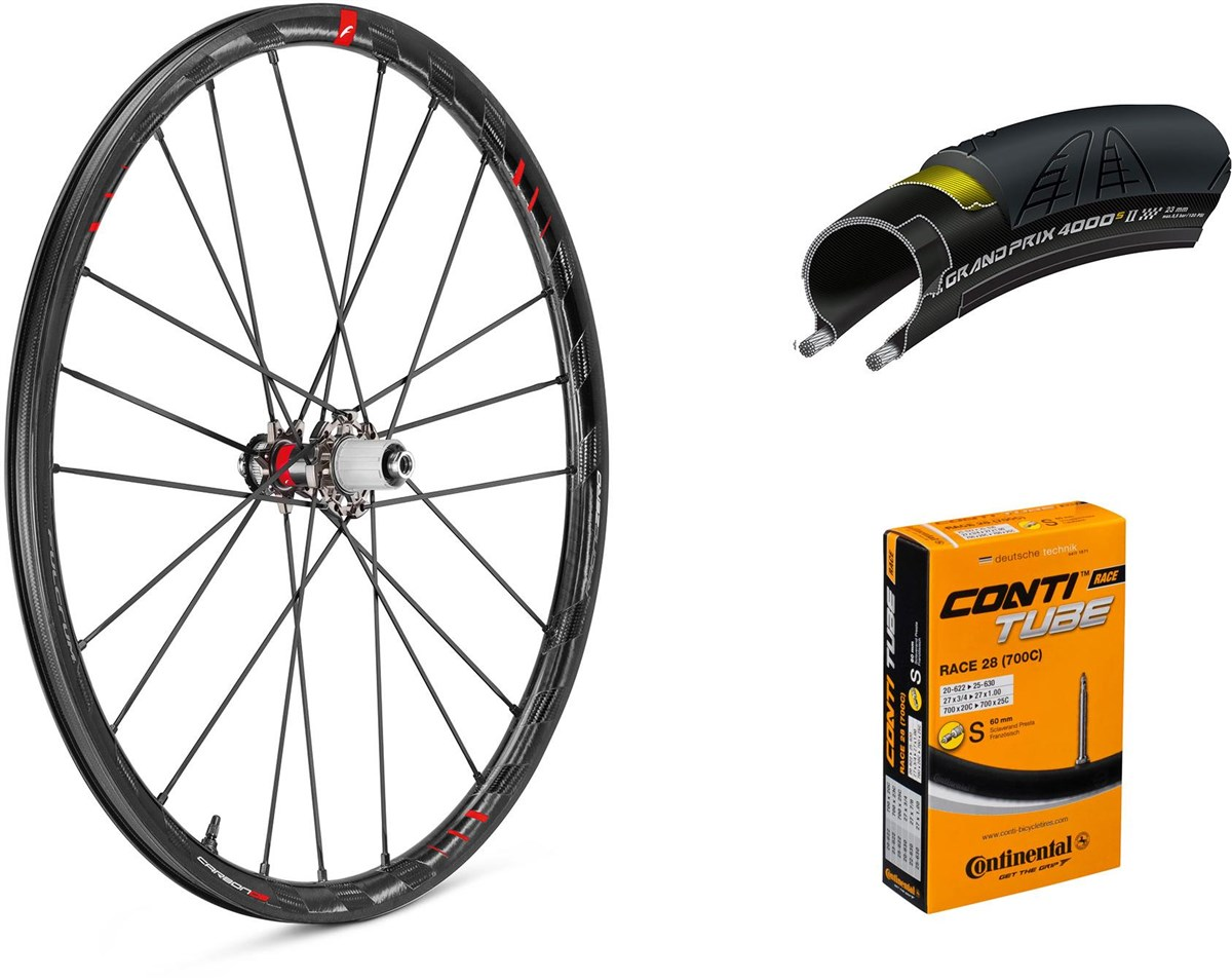 Fulcrum Racing Zero Carbon Disc 700c Wheelset with Tyres and Tubes | Hjulsæt