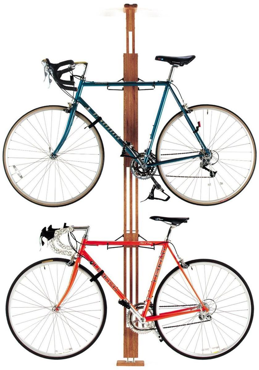 Gear Up OakRak Floor-To-Ceiling 2 To 4-Bike Rack   bike_storage_hanger_component