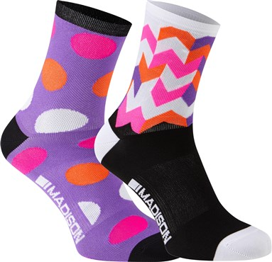Madison Sportive Womens Mid Socks - Pack of 2