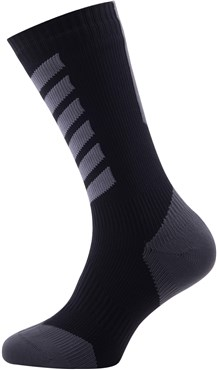 Sealskinz MTB Cycling Mid Socks with Hydrostop