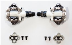 Shimano M520 SPD Clipless MTB Pedals White - Full