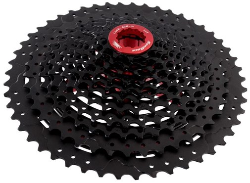 SunRace MX80 11 Speed Shimano/SRAM - Fluid Drive+ Cogs, Alloy Spacers & Lockring Cassette | Kassetter