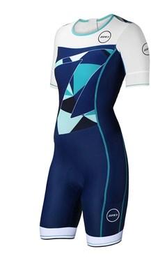 Zone3 Lava Long Distance Short Sleeve Aero Womens Trisuit